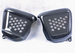 Triumph Thruxton T100 Bonneville Side Panels - Carbon Fibre Finish (Silver Mesh Infill) 2001-15